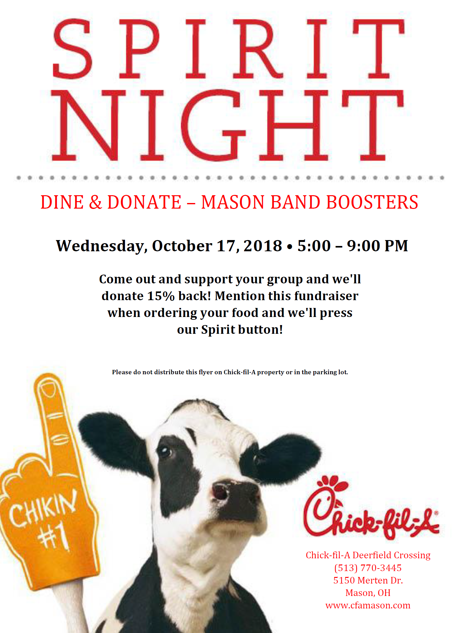Chick fil A Dine and Donate