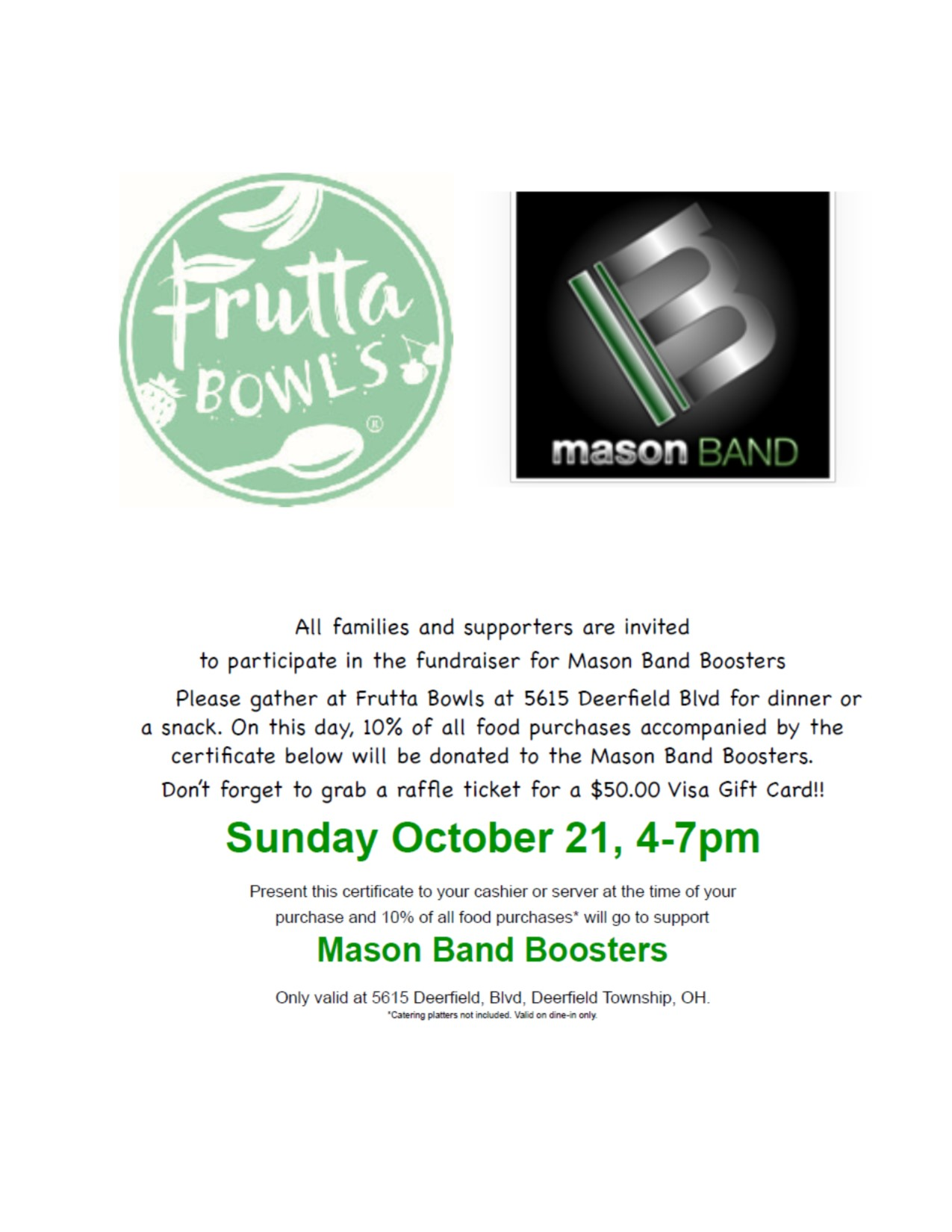 Frutta Bowls Dine and Donate